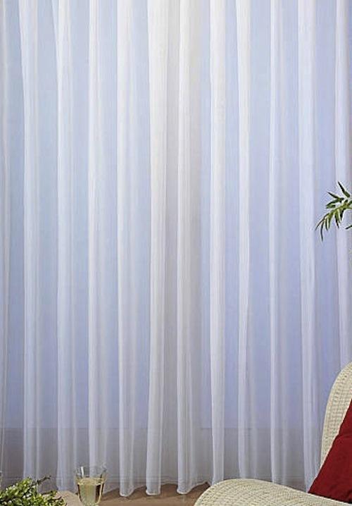 Uni Voile Store Gardine Vorhang Fertig Genäht Bleiband Faltenband 1