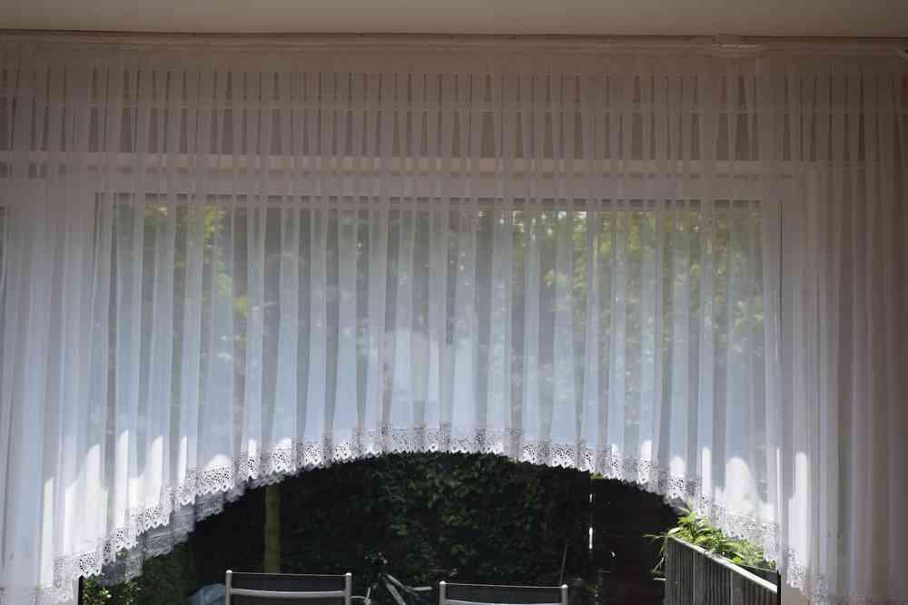 Landhaus Blumenfenster Store Mit Ca 8cm Spitze Voile Gardine In C Form Versch B H Fertiggardine